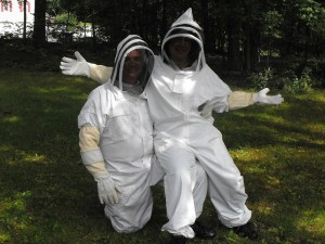 Some beekeepers wear full suits - that's ok.