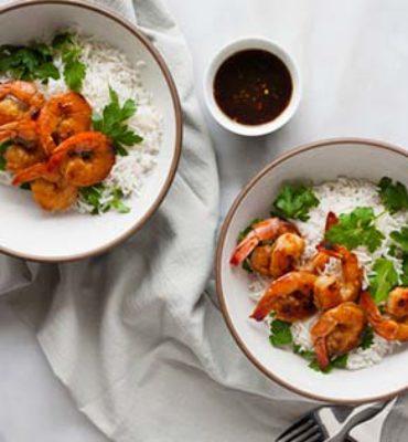 bourbon and honey glazed shrimp recipe