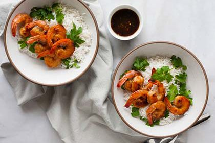 bourbon and honey glazed shrimp recipe