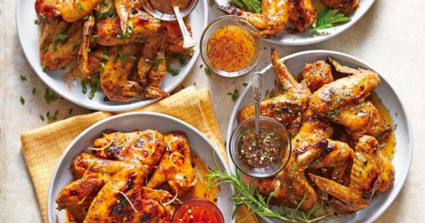 Grilled Salt-and-Pepper Chicken Wings With Honey Drizzle